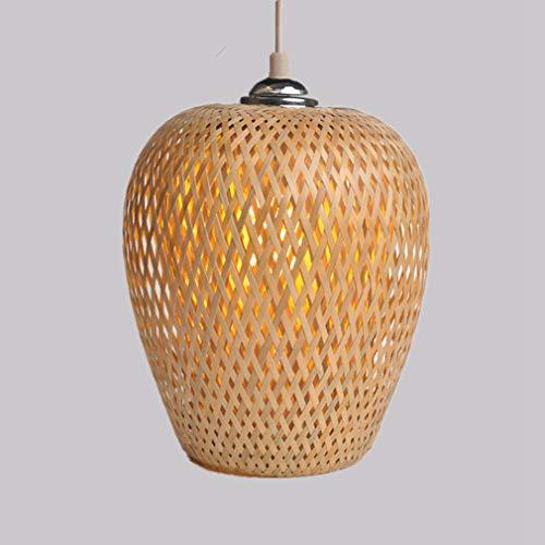 OMGPFR Lantaarn hanglamp kooi hanglamp bamboe stof hanglamp Retro Industriële Loft Light Bar Sala Café kroonluchter