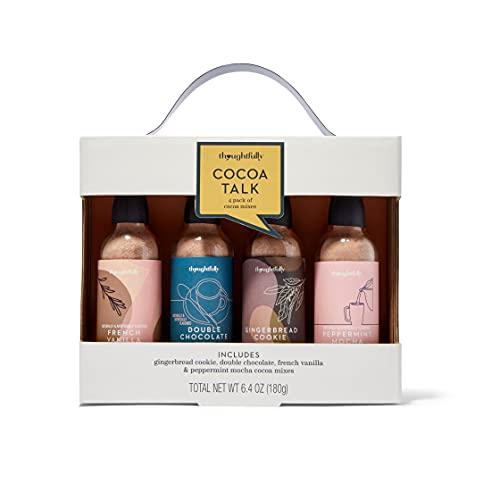Modern Gourmet Foods, Set de Regalo de Cacao Gourmet, Incluye los Sabores Doble Chocolate, Vainilla Francesa y Moca de Menta, Pack 4