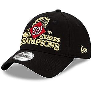 Mens Washington Nationals Black 2019 World Series Champions Locker Room 9TWENTY Adjustable Hat