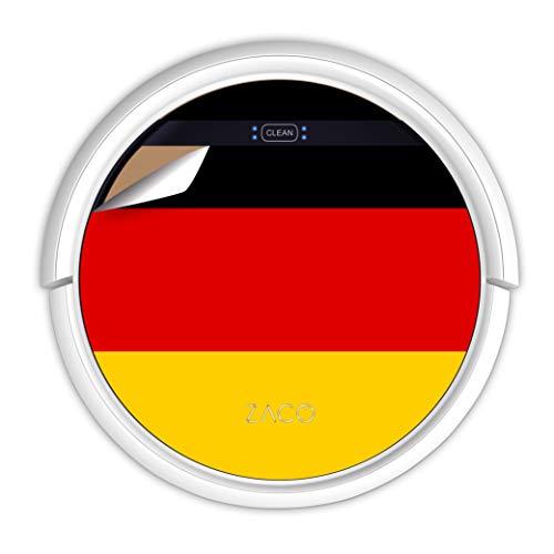 ZACO V5sPro Saugroboter mit Wischfunktion, automatischer Staubsauger Roboter, 2in1 nass Wischen bis zu 180qm oder Staubsaugen, für Hartböden, Fallschutz, beutellos, mit Ladestation, Deutsche Flagge