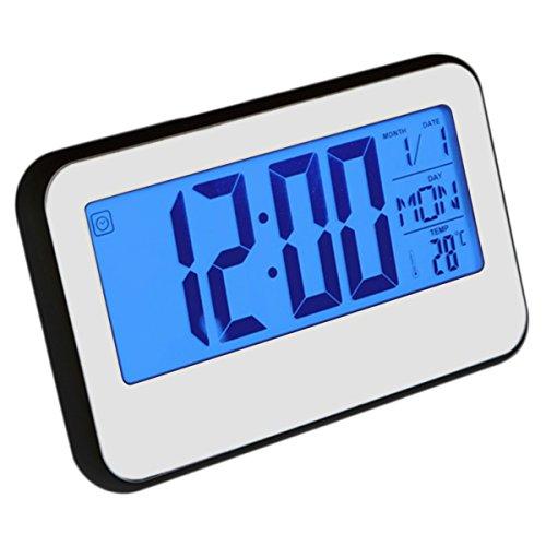 FEVERWORK EsportsMJJ LCD Display Digitale Alarm Klok Geluid Bediend Met Thermometer Backlight Snooze