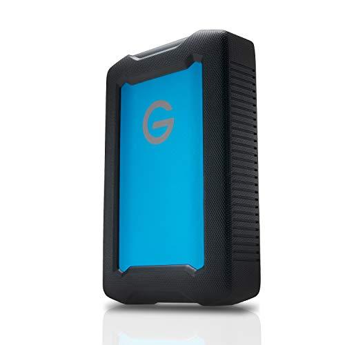 G-Technology mobile Festplatte ArmorATD All-Terrain Festplatte 5 TB (USB-C-fähig, 130 MB/s, für Mac und Windows, wasser- und staubfest) Schwarz/Blau