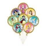 SauParty Helio Globo de Plástico Prinzessin Rapunzel Disney Niña Regalo Cumpleaños Fiesta