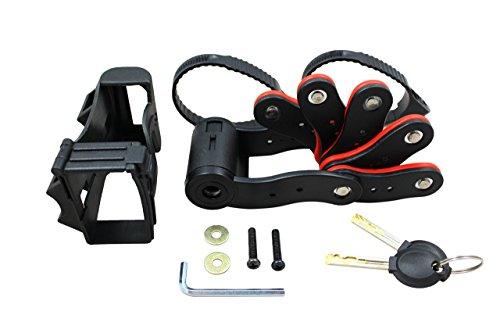 2 llaves Candado r/ígido plegable 720 mm M-Wave 230190 con bolsa