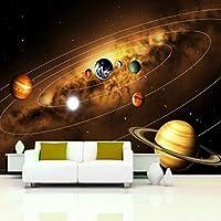RTYUIHN 3D壁紙壁画壁紙宇宙惑星写真背景装飾絵画リビングルーム寝室-粘着性PVC壁紙