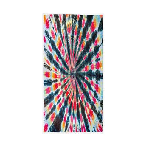 F17 Toalla India Tribal Tie Dye Patrón 30 x 15 pulgadas Toalla de mano para el hogar, cocina, baño, gimnasio, natación, spa