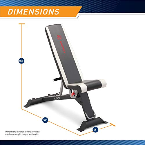 Marcy Adjustable Utility Bench for Home Gym Workout SB-670