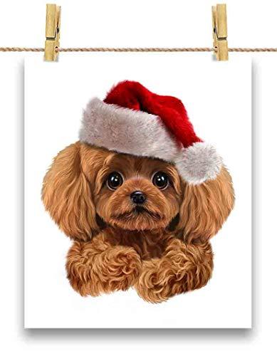 FOX REPUBLIC 【赤毛 プードル ドッグ 犬 いぬ クリスマス】 余白部分にオリジナルメッセージお入れします!ポストカード・はがき(白背景)