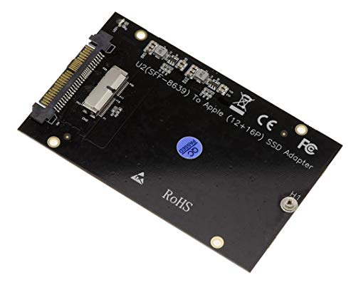 KALEA-INFORMATIQUE U2 SFF-8639 Adapter für MAC 12+16 pin SSD. Kompatibel 12+16 pin SSD NVMe 2015 2016 2017 2018 Mac Pro Retina