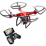 Goolsky Dongmingtuo X8 FPV WiFi Drone, 2.4GHz 4CH RC Drone with 720P Camera, 3D...