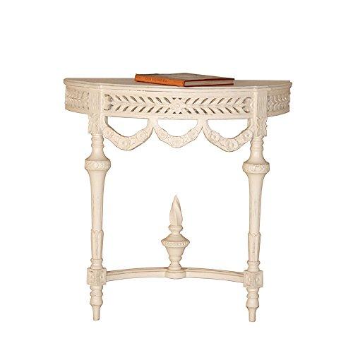 Wandkonsole/Konsolentisch Endang halbrund weiß Landhausmöbel