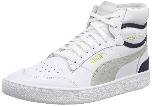 PUMA Ralph Sampson Mid, Zapatillas Unisex Adulto, Blanco (P White/Gray Violet/Peacoat), 39 EU