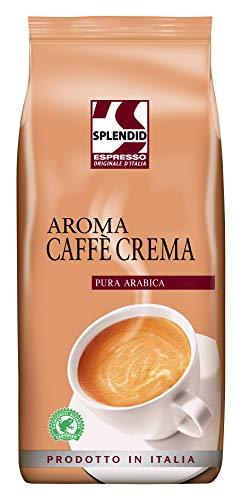 Splendid Espresso Originale d'Italia 1kg Bohnenkaffee ganze Bohne feine und ausgewogener Geschmack, Caffè Crema, 1000 g