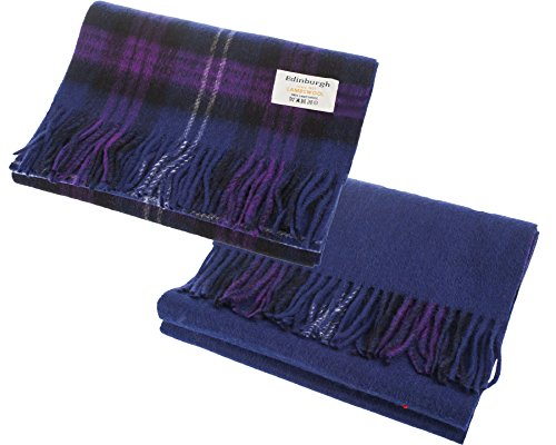 I Luv Ltd Unisex Lambswool Double Faced Scarf In Heritage Of Scotland Tartan Design 28cm Wide