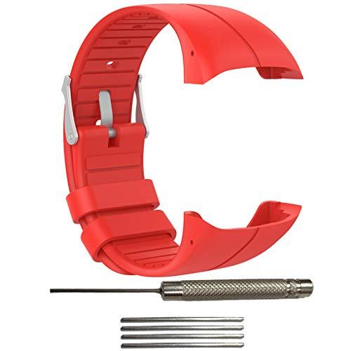 Hotaluyt Deportes Correa de Silicona Reloj Pulsera de Repuesto Banda de reemplazo Correa Ajustable para Polar M400 / M430