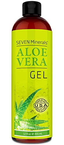 Organic Aloe Vera Gel with 100% Pure Aloe Freshly Cut