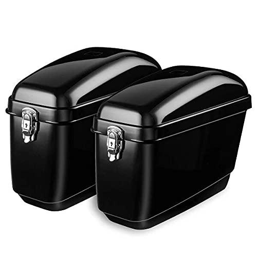 zhoufeng Par 30l Lado Caja de Equipaje Tronco Duro Bolsas de Silla de Monte Panniers Box Cruiser Universal, Puede Aumentar la Estabilidad