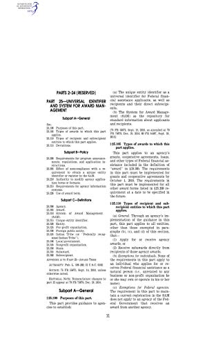 Code of Federal Regulations Title 1 General Provisions, Office of the Federal...
