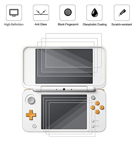 3 Pack Matte Anti-Glare Screen Protector For Nintendo 3DS XL 2017 Screen Protector, Anti Glare And Anti Fingerprint (Matte) Shield