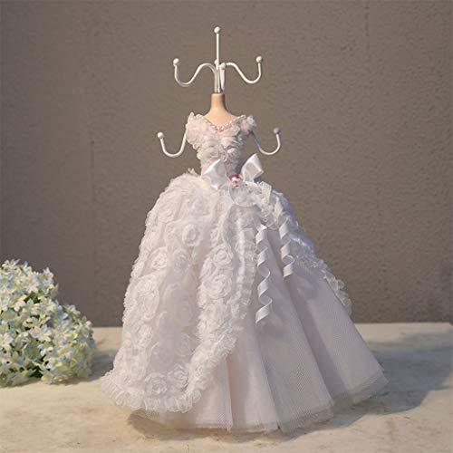 GuoYQ Soporte de Exhibición de Joyería, Collections Señora Modelo Vestido de Aretes Collar Anillo Joyería Soporte para Collares, Pendientes, Colgantes