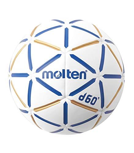 MOLTEN S3200136 Balón de Balonmano, H3D4000-Bw, Cuero Sintético, Talla 3, Unisex-Adult