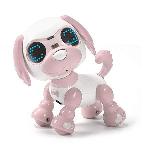 ZC Dawn Cachorros Robot, Robot Lindo Regalo Perro Robot Interactivo del Perrito del Juguete De Navidad De Juguete Regalo para Los Niños,Rosado