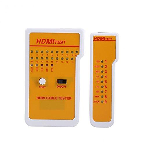 Luxtech Tester Kabel HDMI High Definition Test-Tool-Kabel Remote Werkzeug Kontroll-Kabel HDMI tragbar mit 9 LED-Indikatoren