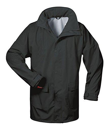 Norway PU-Regenjacke mit Kapuze - schwarz - Größe: XL