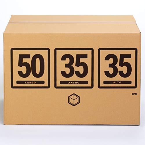 (10x) Cajas para Mudanza   Caja de Cartón TeleCajas   Pared simple con Asas - 50x35x35 cms   Pack de 10 unidades S