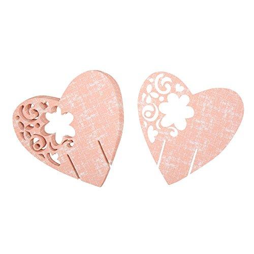 Neviti met liefde laser gesneden plaats kaart voor glas, papier ivoor, 7,2 x 7 x 0,1 cm