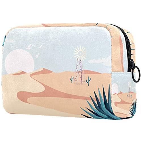 Bolsa de almacenamiento cosmética multifuncional con diseño de flores de cerezo japonés para mujeres y niñas, bolsa de aseo portátil para viajes, Multicolor7, 18.5x7.5x13cm/7.3x3x5.1in, moderno