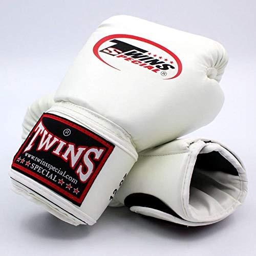 YSHOUT AS Twin gloves Kick Boxing gloves PU leather Sanda Sandbag training black boxing gloves 8 10 12 14 oz men women Muay Thai glovesblue14oz DS Color WHITE Size 10oz