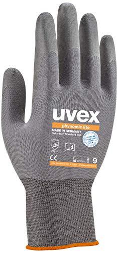1 Paar uvex phynomic Lite Arbeitshandschuhe EN388 | Schutzhandschuhe mit Grip für Trocken und Leicht feuchte Arbeiten - 10 (XL)