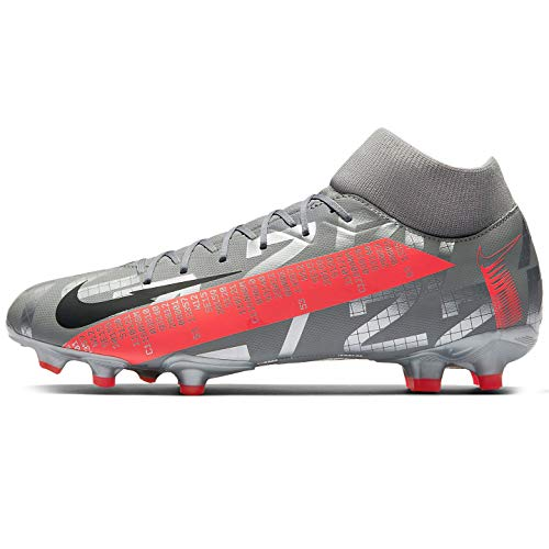 Nike Herren Mercurial Superfly 7 Academy FG/MG Fußballschuh grau-rot/pink-schwarz 44