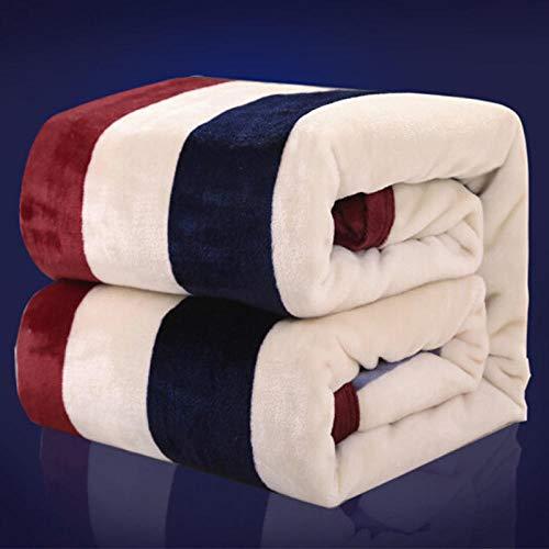 ASD Decke Dicke Flanelldecke Nickerchen Klimaanlage Decke Korallensamt Handtuch Steppdecke Winterbett Bettwäsche-Bunte Life_150 * 200cm Decken, Betttücher
