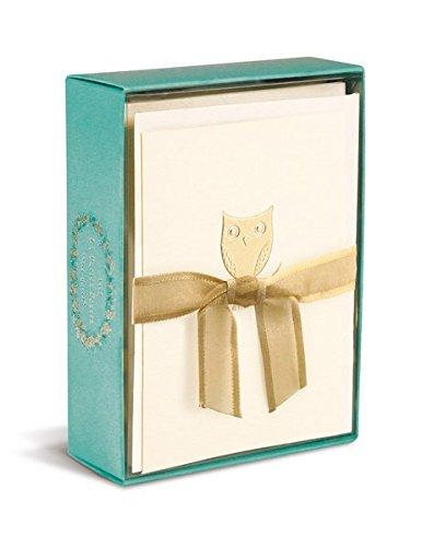 Boxed Notes: Owl on a Branch – Gruß- und Geschenkkartenbox mit Kuverts: Eule auf einem Ast