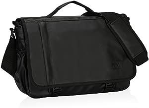 Hynes Eagle Laptop Messenger Bag 15.6 inch Commute Shoulder Bag for Men & Women Black