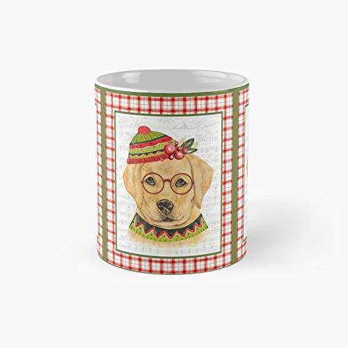 Taza clásica de Navidad con diseño de Labrador | El mejor regalo divertido tazas de café de 11 onzas
