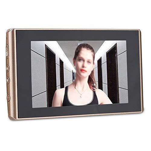 Cámara de mirilla 2 MP Pantalla LCD de 4.3 pulgadas Pantalla digital Mirilla de mirilla Cámara Visión nocturna + Grabación de video + Captura automática de fotos, 160 ° Gran angular Visor de puerta Ti