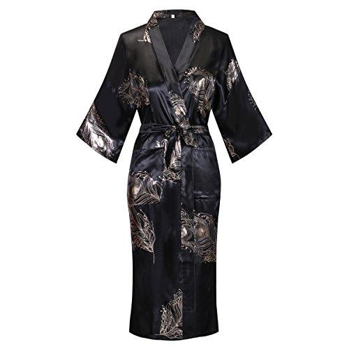Valennia Floral Pattern Kimono Robe Long Bathrobe For Women New York