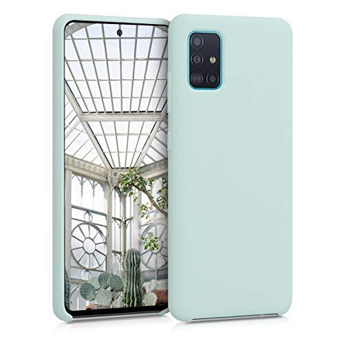 kwmobile Hülle kompatibel mit Samsung Galaxy A51 - Hülle Handyhülle gummiert - Handy Hülle in Frosty Mint