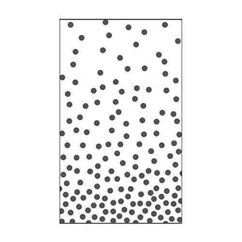 Vaessen Creative Mini Prägeschablone Embossing Folder 7, 6 x 12, 7 cm, Punkte 1, Muster zum Prägen, Stanzen und gestalten von DIY Scrapbook, Fotoalbum, Briefumschläge und Karten