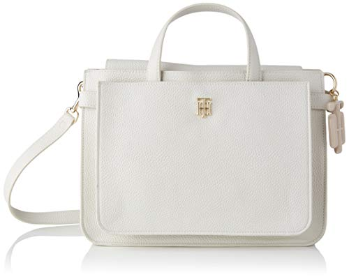 Tommy Hilfiger TH Soft, Bolso para Mujer, White Dove, One Size