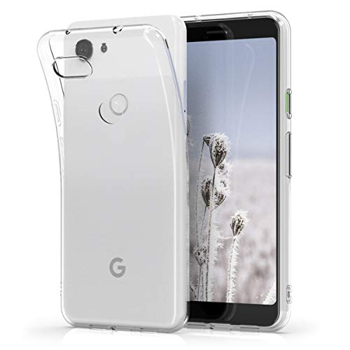 kwmobile Cover Compatibile con Google Pixel 3a - Custodia in Silicone TPU - Back Case Protezione Posteriore - Trasparente
