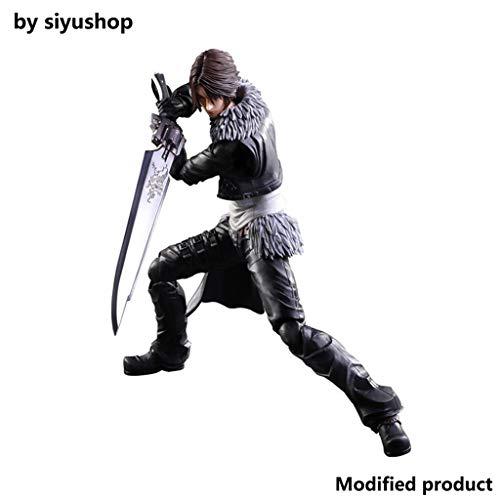 Siyushop Dissidia Final Fantasy Play Art Kai: Squall Leonhart Actionfigur - Ausgestattet Mit Waffen Und Austauschbaren Händen - Hoch 28CM