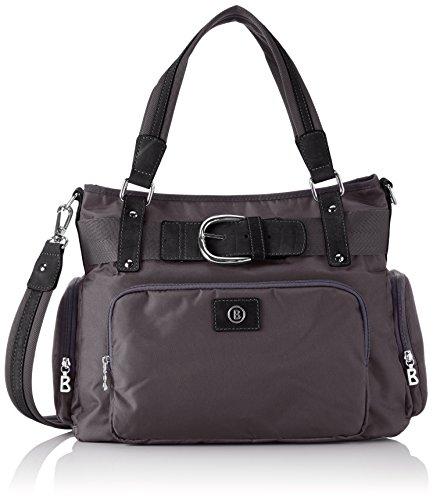 Bogner Leather JAMAIKA 2 0493943 - Borsa a tracolla da donna, 41 x 29 x 19 cm (L x A x P), Grigio (Grigio Excalibur 350), 41x29x19 cm (B x H x T)