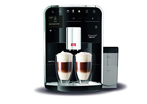 Melitta Caffeo Barista T Smart F830-102, Kaffeevollautomat mit Milchbehälter, Smartphone-Steuerung mit Connect App, One Touch Funktion, Schwarz