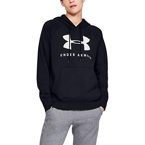 Under Armour Damen Rival Fleece Sportstyle Graphic Kapuzenpullover, Schwarz (Black 001), Small