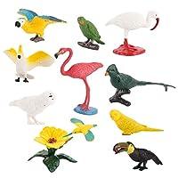 #N/A 鳥モデル 動物モデル 動物模型 鳥模型 鳥フィギュア 動物フィギュア 家 装飾 置物 知育玩具 10個