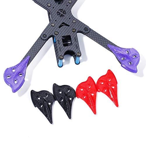 iFlight 4pcs/Set 3D Printing TPU Arm Pad/Guards/Protector for iFlight XL5 V4/ XL6 V4/XL7 V4/XL8 V4/XL10 V4/SL5 FPV Frame Kit (Purple)